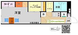 神奈川県相模原市中央区横山3丁目の賃貸アパートの間取り