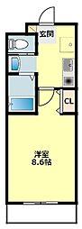 JR東海道本線 岡崎駅 徒歩7分の賃貸マンション 1階1Kの間取り
