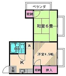 メゾン武蔵野[202号室号室]の間取り