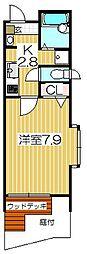 東京都目黒区目黒本町4丁目の賃貸アパートの間取り
