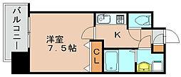 エンクレスト博多駅前III[7階]の間取り