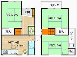 [一戸建] 大阪府八尾市南本町9丁目 の賃貸【/】の間取り