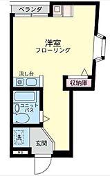 プチメゾンわかば[2−B号室]の間取り