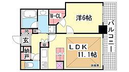 ライオンズタワー神戸元町[3階]の間取り