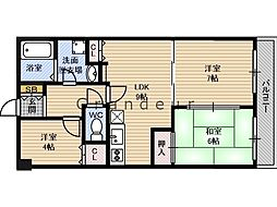 Osaka Metro長堀鶴見緑地線 鶴見緑地駅 徒歩10分の賃貸マンション 4階3LDKの間取り