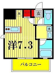 都営浅草線 本所吾妻橋駅 徒歩5分の賃貸マンション 3階ワンルームの間取り