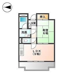 セキスイハイム徳川レジデンス[6階]の間取り