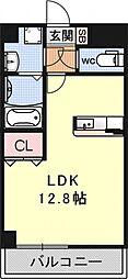 新風館[605号室号室]の間取り