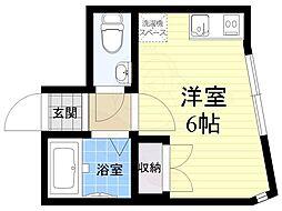 JR中央線 西荻窪駅 徒歩10分の賃貸アパート 1階ワンルームの間取り