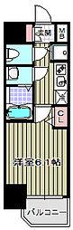 アクアプレイス天王寺II[4階]の間取り