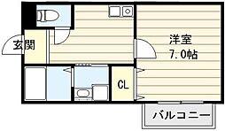 大阪府大阪市生野区林寺4丁目の賃貸アパートの間取り