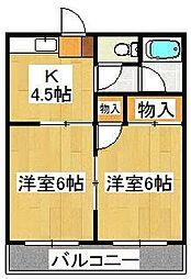 小栗原マンション[302号室]の間取り