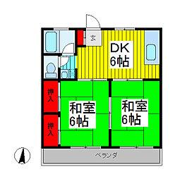 岩本コーポ[2階]の間取り