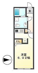 MODULOR名城公園[2階]の間取り