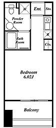 クレジデンス神谷町[3階]の間取り