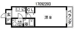 コラボ天王寺[6階]の間取り