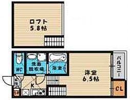 (仮称)旭区高殿六丁目B・SKHコーポ[202号室号室]の間取り