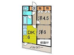 戸田パークヒルズ[3階]の間取り