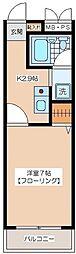 アーバンコート梅丘[2階]の間取り