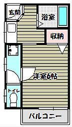 サンハイツA[1階]の間取り