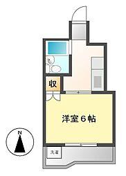 サンコーポミロク[2階]の間取り