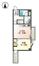 メナー浄心II[6階]の間取り
