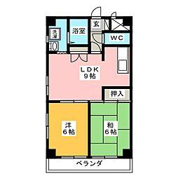 メゾンハヤシ[4階]の間取り