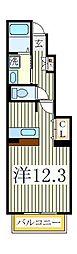サンヴィレッジ伍番館[1階]の間取り