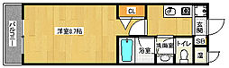 京都府京都市伏見区深草西浦町6丁目の賃貸マンションの間取り