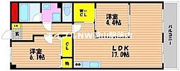 岡山スタービル[4階]の間取り