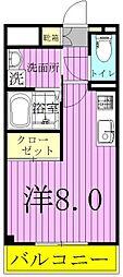 フローラ・五香[202号室]の間取り
