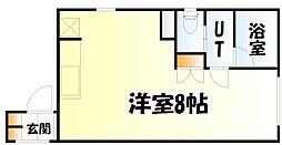 仙台市地下鉄東西線 青葉通一番町駅 徒歩6分の賃貸マンション 3階ワンルームの間取り