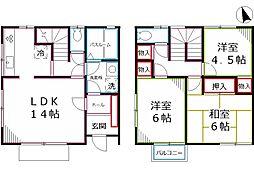 [テラスハウス] 東京都小金井市貫井北町3丁目 の賃貸【/】の間取り
