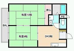 ハイツサンライズ[2階]の間取り