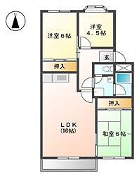 セントラルハイツ[3階]の間取り