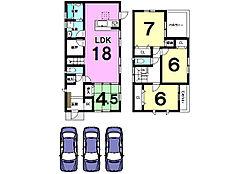 土地面積59.42坪。駐車3台可能です。モデルルームもございますのでお気軽にお問合せ下さい。