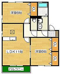 ラポルテ[1階]の間取り