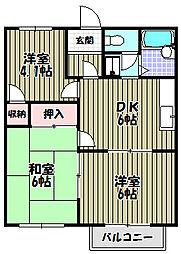 メゾンラフォーレI・II[2階]の間取り