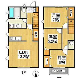 プライムコート江戸屋敷 A棟[2階]の間取り