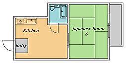 大阪府大阪市東住吉区南田辺5丁目の賃貸マンションの間取り