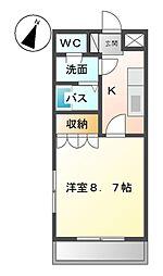 愛知県愛知郡東郷町大字諸輪字上市の賃貸アパートの間取り