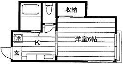 塩野荘[2階]の間取り