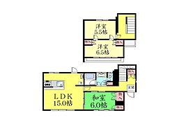 [一戸建] 兵庫県神戸市東灘区鴨子ケ原3丁目 の賃貸【/】の間取り
