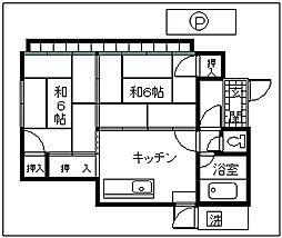 [一戸建] 東京都羽村市羽西1丁目 の賃貸【/】の間取り