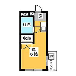 メイツ八幡[3階]の間取り