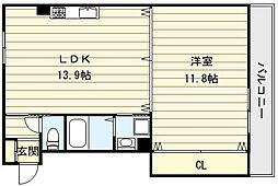 インフィールドM[4階]の間取り