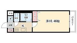 淵野辺南口駅前ビル[304号室]の間取り