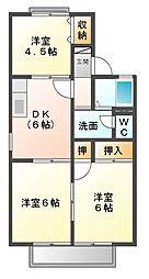 エクレール五井西E[2階]の間取り