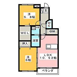 RICHES 21[3階]の間取り
