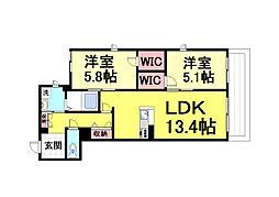 (仮称)シャーメゾン深江本町[102号室]の間取り